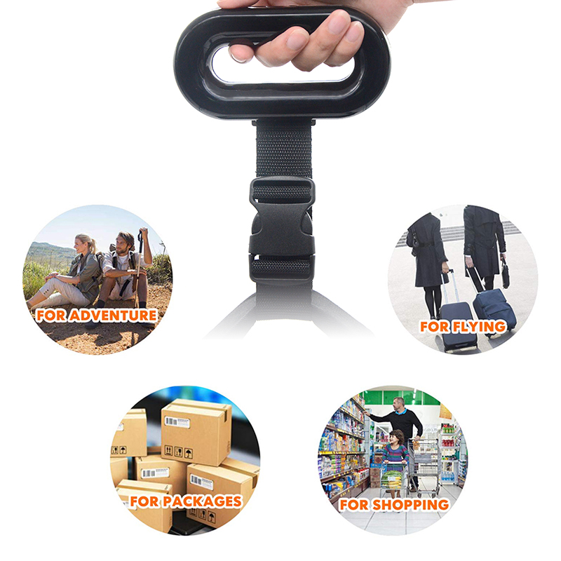 50kg Portable Convenient Travel Hanging Digital Luggage Scale
