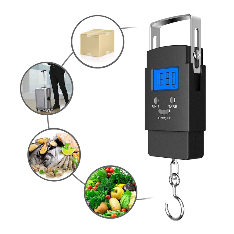 50kg Travel Portable Digital Hanging Fish Scale